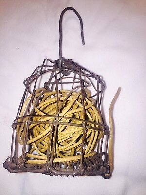 Rare VINTAGE ANTIQUE STRING HOLDER /CUTTER Old Bird Cage Style