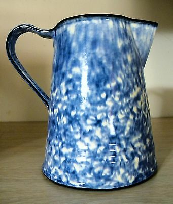 Vintage ~  Hand Painted Stangl Blue & White Spongeware Coffee Pot~Town & Country
