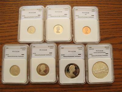 1984 Canada ENCAPSULATED 7 COIN PROOF MINT SET