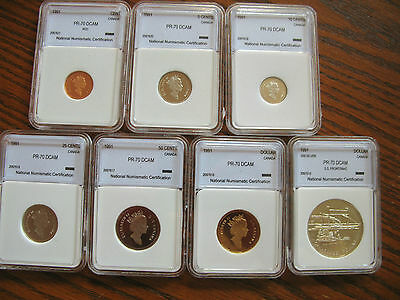 1991 Canada ENCAPSULATED 7 COIN PROOF MINT SET