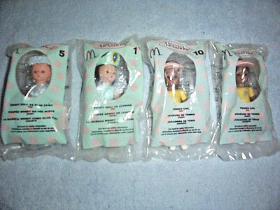 Lot Of 4 Mcdonalds 2005 Happy Meal Madame Alexander Dolls 1, 5 & 10, All Sealed!