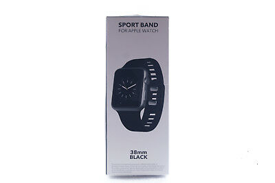 Exclusive SPORT BAND Watch Strap for Apple Watch™ Series 1, 2, 3 - 42mm (Black)