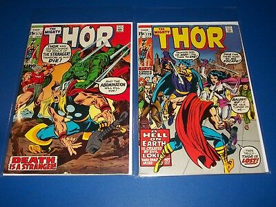 The Mighty Thor #178,179 Bronze age Stranger Abomination 1st Buscema