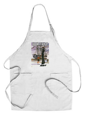 US Navy - Heritage - Vintage Advertisement (Cotton/Polyester Chef's Apron)