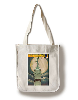 Indianapolis IN Soldier Sailor Monument LP Artwork (100% Canvas Tote Bag Gusset