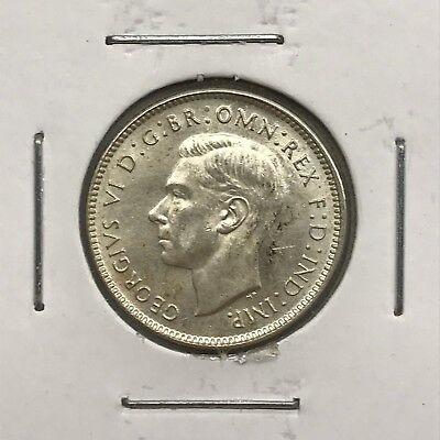 1943-D Australia Sixpence in BU Condition