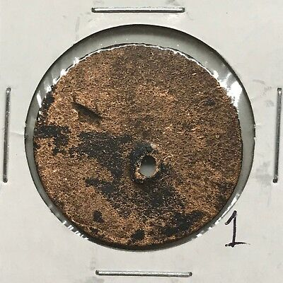 1787 1C Connecticut Colonial Copper Cent: Holed #1