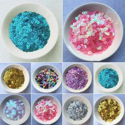 4000pcs 4mm DIY Round Loose Sequins Paillettes Clothes Sewing Accessories Craft