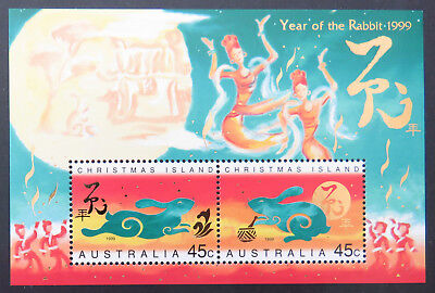 1999 Christmas Island Stamps - Lunar New Year-Year of Rabbit Mini Sheet MNH
