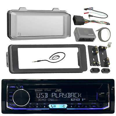 KD-R99MBS CD Bluetooth Boat Radio,98-13 Harley Install Adapter Kit,Antenna,Cover