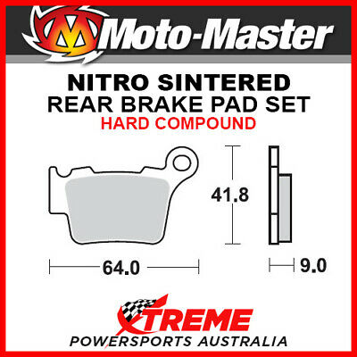 Moto-Master KTM 450 SX-F 2003-2018 Nitro Sintered Hard Rear Brake Pad 094421