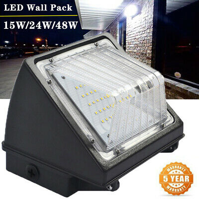 15/24/48W LED Wall Pack light Waterproof Garden Outdoor Hotel ETL DLC 5000K