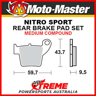 Moto-Master KTM 450 SX-F 2003-2018 Nitro Sport Sintered Medium Rear Brake Pad 09