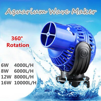 6/8/12/16W Aquarium Fish Tank 360° Vague Pompe Brassage Réglable 4000-10000L/H