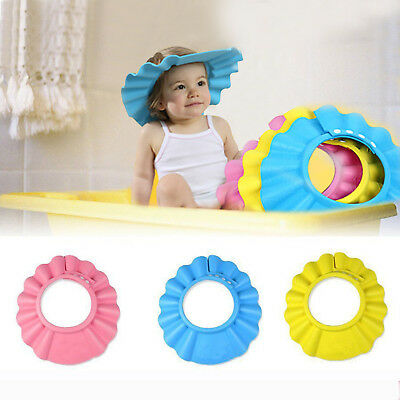 Adjustable Kids Baby Waterproof Visor Eye Shield Hat Bath Shampoo Shower Cap Hot