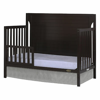 Dream On Me Universal Convertible Crib Toddler Guard Rail Baby Cribs Mocha