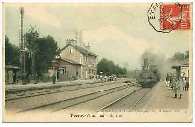 91.perray-Vaucluse.n°264.la Gare.train