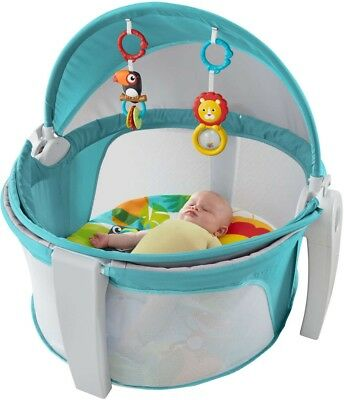 Infant Baby On The Go Dome Outside Sturdy Fisher Price Collapsable Canopy