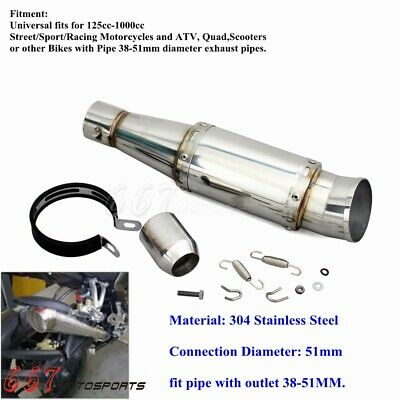 Motorcycle GP Exhaust Muffler Pipe& DB Killer for 125-1000CC Quad ATV Universal
