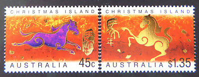 2002 Christmas Island Stamps - Lunar New Year- Year of Horse - Set of 2 MNH