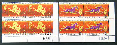 2002 Christmas Island Stamps - Lunar New Year- Year of Horse-Cnr Set of 2x4 MNH
