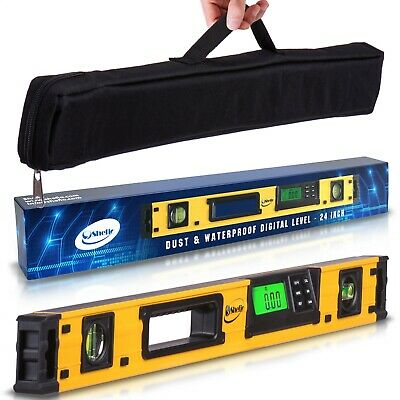 24-Inch Digital Magnetic Level- IP54 Dust and Waterproof Electronic Smart Tool
