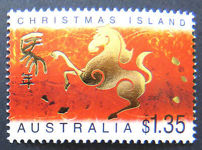 2002 Christmas Island Stamps - Lunar New Year- Year of Horse - Single $1.35 MNH
