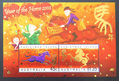 2002 Christmas Island Stamps - Lunar New Year-Year of Horse Mini Sheet MNH