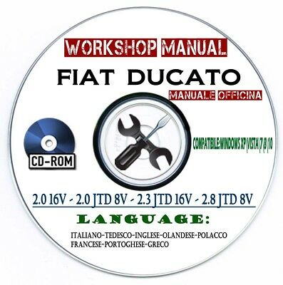 Manuale Officina Fiat Ducato Workshop Manual Service Multilanguage 2002-2008