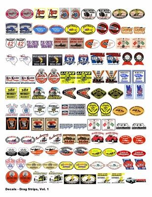 For Sale, Small Business, Nostalgic Drag Racing & Hot Rod Decals For Car Models
