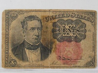 Series 1874 Fractional 10 Cent 5th Issue US Currency.  #50