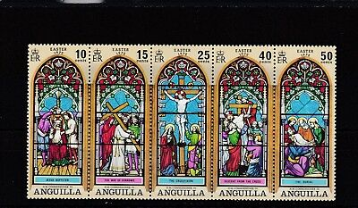 a130 - ANGUILLA - SG125-129 MNH 1972 EASTER - GLASS STAINED WINDOWS