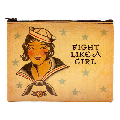 Blue Q Zipper Pouch Fight Like a Girl
