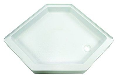 Lippert 209744 Better Bath Neo Angle RV Shower Pan Right Hand Drain White