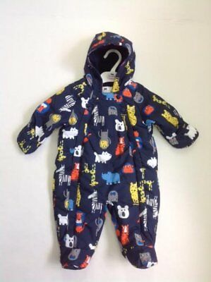 Ex Marks & Spencer Baby Boys Snow Suit Navy 0-3 months 3-6 months 6-9 months
