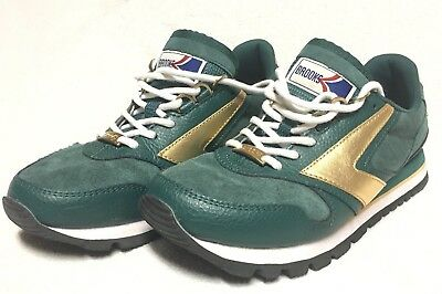 5332d1792b58b BROOKS Chariot Heritage Women s Running Shoes Coffee House Green Bean Suede  Sz.7