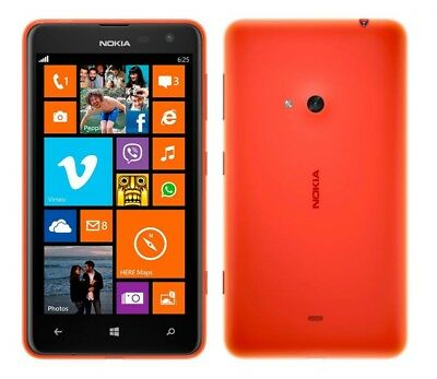 Nokia Lumia 625 in Orange Handy Dummy Attrappe - Requisit, Deko, Ausstellung