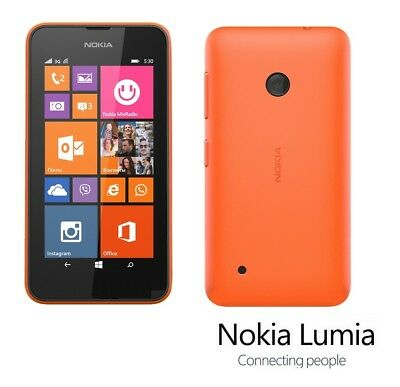 Nokia Lumia 530 in Orange Handy Dummy Attrappe - Requisit, Deko, Ausstellung