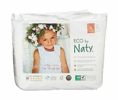 Nature Babycare Eco-Pull On Pants Size 5 20 Count (Pack of 4) 80
