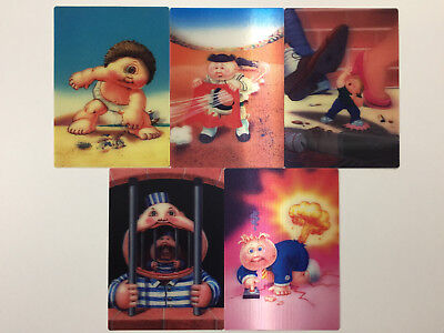 2011 USA Garbage Pail Kids FLASHBACK 3 COMPLETE 3D Set - FB