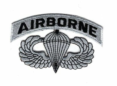 Airborne Jump Wings Paratrooper Embroidered Hook Fastener Patch BY MILTACUSA