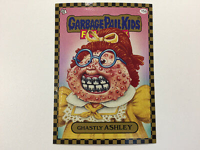 2010 USA Garbage Pail Kids FLASHBACK 1 : 15a Ghastly ASHLEY - GOLD