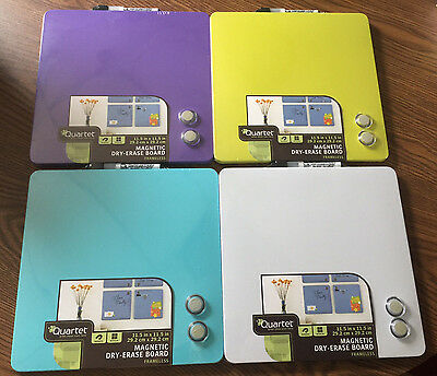 Box of 12 Quartet 12x12 Magnetic Dry-Erase Boards  FOUR Colors Free Shipping!