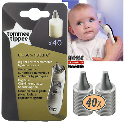Tommee Tippee Digital Ear Thermometer COVERS Refils x 40 Nature HYGIENE FAST NEW