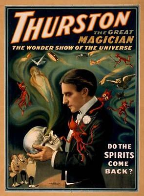 Thurston, the Great Magician, The Wonder Show of the Universe - Vintage Poster
