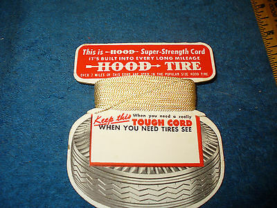 Vintage HOOD Tire String Cord Promo Giveaway Gas Service Station Stores