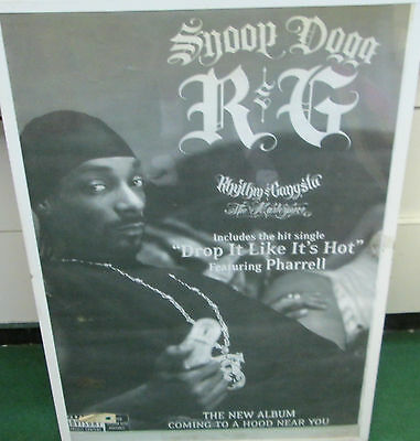 Snoop Dogg  Sealed New  Rap Hip Hop Rare Sealed  Poster Mid 2000's