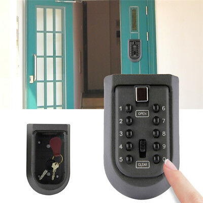 Outdoor Password Combination Key Safe Lock Box Security Storage Box Wall Mount G