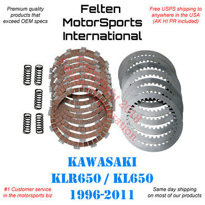 Kawasaki KLR650 Clutch Kit Set Kevlar Discs Disks Plates Springs KLR 650 96-11