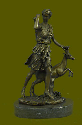 "Huge Sale Large Vintage French ""Le Faguays"" Goddess DIANA Gift Bronze Decor"
